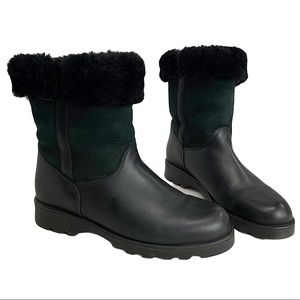 La CANADIENNE Black Shearling Lined Boots
